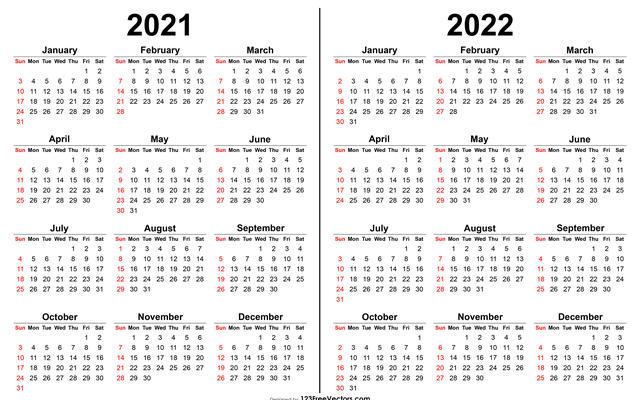 Image of a 2021 2022 calendar