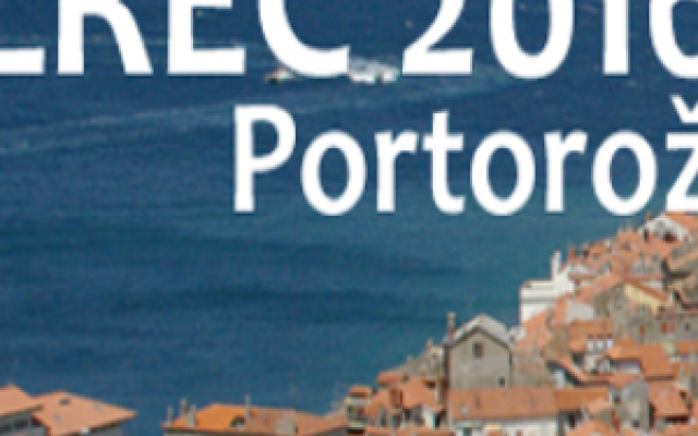 LREC 2016 Conference banner image