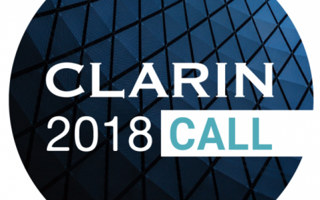 CLARIN2018 Call for Papers logo