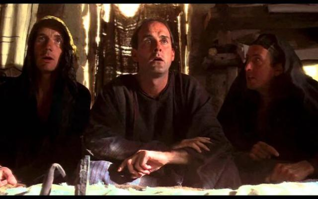 """Still from the scene """"What have the Romans ever done for us"""" from Monty Python's Life of Brian"""