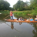 Photograph of students punting on the river in Oxford