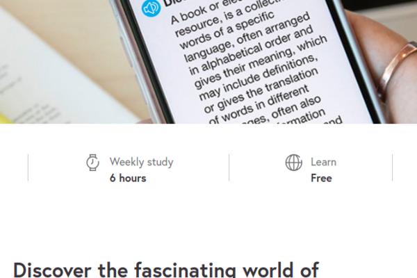 Screenshot from MOOC Understanding Dictionaries website