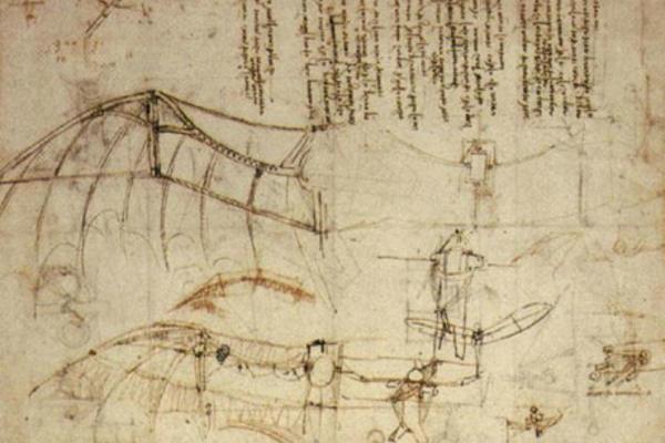 leonardo design for a flying machine c 1488 460