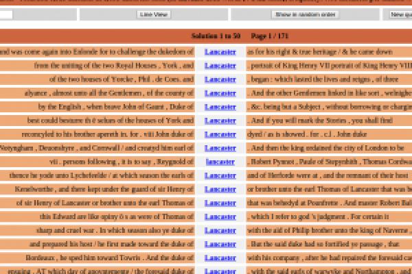 Screenshot of CQPweb at Lancaster University