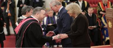 The Historical Thesaurus of English team receive the Queen's Anniversary Prize