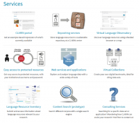 Services offered by CLARIN